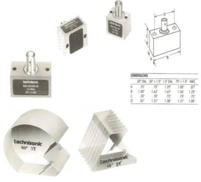 ABS and AWS Shear Wave Transducers and Wedges